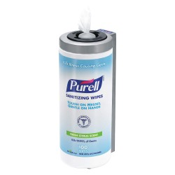 Purell - 9111-D1 - Hand Sanitizer Wipes, 5-1/2 x 7, 100 Wipes per Container, 1 EA