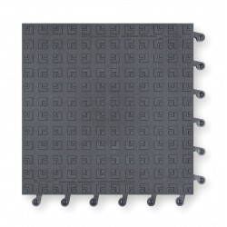 Wearwell / Tennessee Mat - 556 - Interlocking Antifatigue Mat, Vinyl, Charcoal, 1 ft. 6 x 1 ft. 6, 10 PK