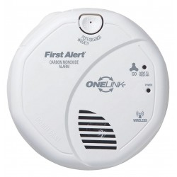 First Alert - CO511B - 5 Carbon Monoxide Alarm with 85dB @ 10 ft. Audible Alert; (2) AA