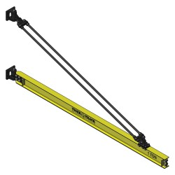 Harrington Hoists - 311-1100-14 - Jib Crane, Reach 14 ft., 1100 lb., Manual