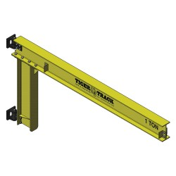 Harrington Hoists - 313-4400-10 - Jib Crane, Reach 10 ft., 4400 lb.