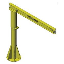 Harrington Hoists - 350-1000-16-12 - Jib Crane, Reach 16 ft., 1000 lb., Manual