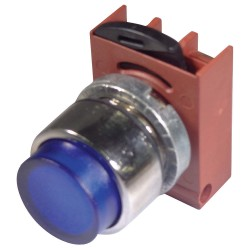 GE (General Electric) - P9CPLLSD - Illuminated Push Button Operator, Blue, Momentary Action, Dependent on Module Used Lamp Voltage