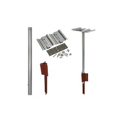 Tapco - 034-00212 - Mailbox Post, 17-1/2 in.Wx12 in.Dx48 in.H
