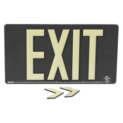 Brady - 145469 - Exit and Entrance, Plastic, 9-1/2 x 17-1/4, With Mounting Holes