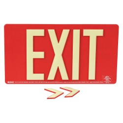 Brady - 145471 - Exit and Entrance, Plastic, 9-1/2 x 17-1/4, With Mounting Holes