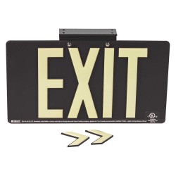 Brady - 145472 - Exit and Entrance, Plastic, 9-1/2 x 17-1/4, With Mounting Holes
