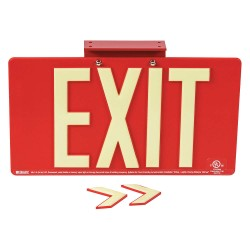 Brady - 145480 - Exit and Entrance, Plastic, 9-1/2 x 17-1/4, With Mounting Holes