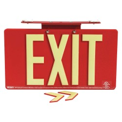 Brady - 145483 - Exit and Entrance, Plastic, 9-1/2 x 17-1/4, With Mounting Holes