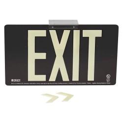 Brady - 145502 - Exit and Entrance, Aluminum, 8-1/2 x 15-1/2, Bracket