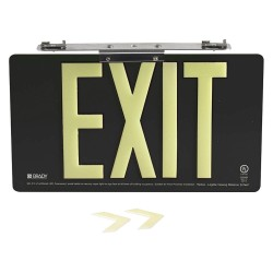 Brady - 145513 - Exit and Entrance, Aluminum, 8-1/2 x 15-1/2, Bracket