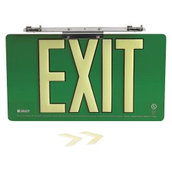 Brady - 145514 - Exit and Entrance, Aluminum, 8-1/2 x 15-1/2, Bracket