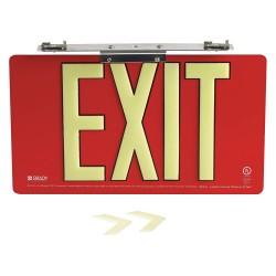 Brady - 145515 - Exit and Entrance, Aluminum, 8-1/2 x 15-1/2, Bracket