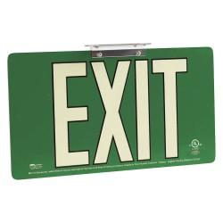 Brady - 145517 - Exit and Entrance, Aluminum, 8-1/2 x 15-1/2, Bracket