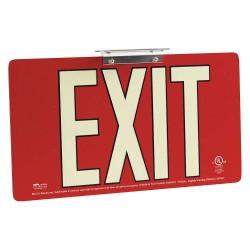 Brady - 145518 - Exit and Entrance, Aluminum, 8-1/2 x 15-1/2, Bracket