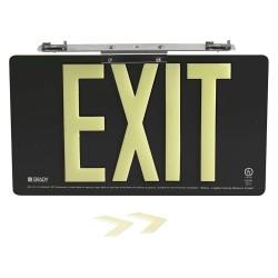 Brady - 145519 - Exit and Entrance, Aluminum, 8-1/2 x 15-1/2, Bracket