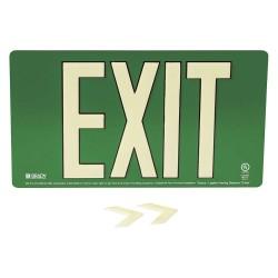 Brady - 145523 - Exit and Entrance, Aluminum, 9 x 15-3/4, Bracket