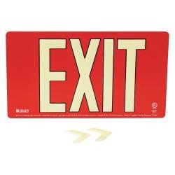 Brady - 145524 - Exit and Entrance, Aluminum, 9 x 15-3/4, Bracket