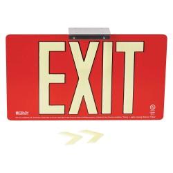 Brady - 145533 - Exit and Entrance, Aluminum, 9 x 15-3/4, Bracket