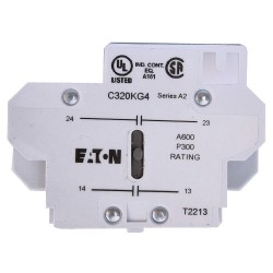Eaton Electrical - C320KG5 - Auxiliary Contact, 10 Amps, Heavy Duty Type, Side Mounting