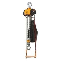 Harrington Hoists - AL003C-15 - Air Chain Hoist, 500 lb. Load Capacity, 15 ft. Hoist Lift, Hook Mounted - No Trolley
