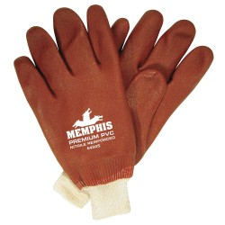 Memphis Glove - 6450S - Jersey Lined Prem. Pvc Blend-red Gloves Non-