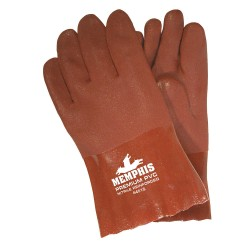 "Memphis Glove - 6451S - Premium Red Double Dipped Pvc Glove 10"" Gauntle"