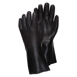 Memphis Glove - 6522SJ - Black Pvc Double Dippedsandy Glove Jersey Lined