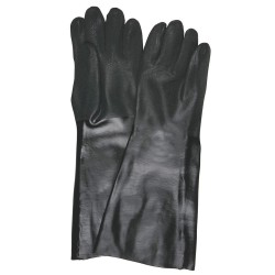 Memphis Glove - 6528S - PVC Chemical Resistant Gloves, Standard Weight Thickness, Interlock Lining, Size L, Black, PK 12