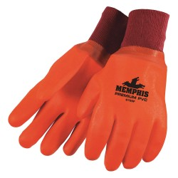 Memphis Glove - 6700F - Fluorescent Orange Pvc Gloves Foam Lined