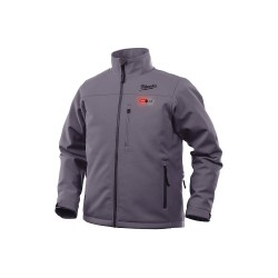 Milwaukee Electric Tool - 201G-212X - Men's Gray Heated Jacket Kit, Size: 2XL, Battery Included: Yes