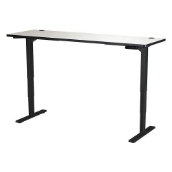 Safco - 1961GRBL - Adjustable Table, 24 in.D, Gry, Steel