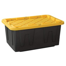 Other - 4427GRBKYL.04 - Storage Tote, Black/Yellow, 14-3/8H x 30-3/4L x 20-1/2W, 1EA