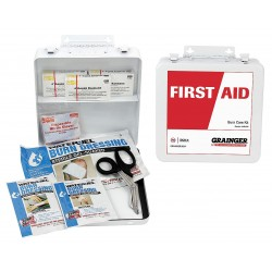 Other - 54617 - Metal Burn Care Kit, White; People Served: 3