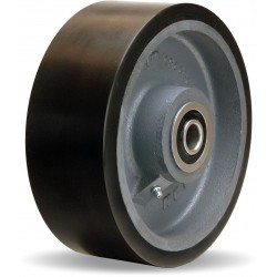 Hamilton Caster - W-830-DB70-3/4 - 8 Caster Wheel, 3250 lb. Load Rating, Wheel Width 3, Polyurethane, Fits Axle Dia. 3/4