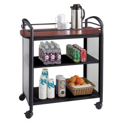 Other - 8967BL - 21-1/4 x 34 x 36-1/2 Steel Frame, Translucent Polycarbonate Impromptu Beverage Cart with 200 lb.