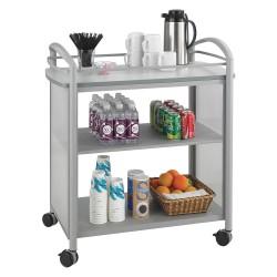 Other - 8967GR - 21-1/4 x 34 x 36-1/2 Steel Frame, Translucent Polycarbonate Impromptu Beverage Cart with 200 lb.