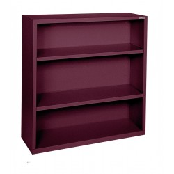 Sandusky Lee - BA20341242-03 - 34 x 12 x 42 Elite Series Bookcase with 2 Shelves, Burgundy