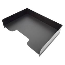 Buddy Products - 0408-4 - Buddy Horizontal Stacking Desk Trays - 2.8 Height x 12 Width x 9 Depth - Desktop - Black - 1Each