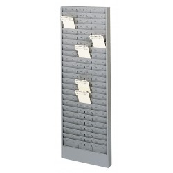 Buddy Products - 0805-1 - Time Card Rack, 6-1/4Al x 4-1/4, 6-3/8 o 12-3/4An Pocket Size, Capacity 25 or 75