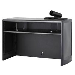 Buddy Products - 1118-4 - Buddy Spacesaver 30 Desktop Organizer - 18.5 Height x 30 Width x 12.5 Depth - Desktop - Black - Steel - 1Each