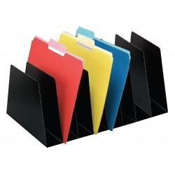 Buddy Products - 4580-4 - Buddy Mirage Vertical Separators - 8 Pocket(s) - 6.8 Height x 10 Width x 16 Depth - Desktop - Black - Steel - 1Each