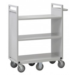 Buddy Products - 6385-32 - Steel Cart with 3 Flat Shelves, Platinum