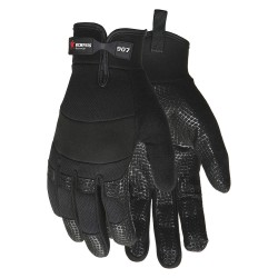 Memphis Glove - 907S - General Utility Mechanics Gloves, Synthetic Leather Palm Material, Black, S, PR 1