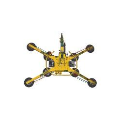 Woods Powr-Grip - MRTA811LDC - Vacuum Lifter, Manual 360 Rotation/90 Tilt, Max. Lift Load Cap. (Lb.) 1400, Number of Pads 8, 11
