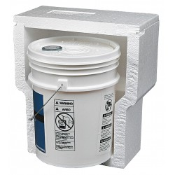 Polar Tech - NS-7F - White Shipper, 19-1/2D x 17-3/4W x 17-3/4 L , Holds :5 gal. Bucket
