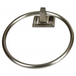 Taymor - 01-9404SN - 7H x 1-5/8D Satin Nickel Towel Ring, Sunglow Collection