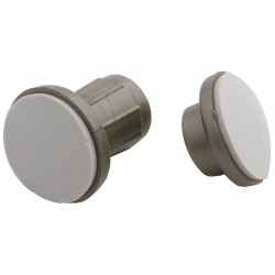 Taymor - 01-9655SN - Satin Nickel ABS Plastic Adjustable Rod Flanges