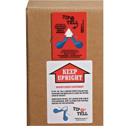 Index Packaging - TIP-100 - Tilt Indicator Label, Plastic, Warning Handle with Care Legend, 3-13/16 Height, 2-13/16 Width