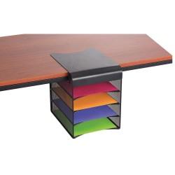 Safco - 3242BL - Onyx Hanging Organizer, Solid Top Horizontal, 12 1/3 x 12 x 10, Black